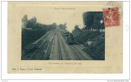 Parc St Maur-La Ligne De Chemin De Fer.Edit.Degoy. - Saint Maur Des Fosses