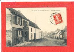 80 LA CHAUSSEE TIRANCOURT Cpa Animée CAFE RESTAURANT Avenue De Picquigny       Edit Legrand - France