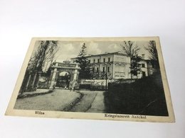 Ansichtskarte Postkarte AK 1916 Litauen, Wilna, Kriegslazarett Antokol - Lithuania