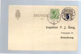 1920 PRIVATE PRINTED CARD Michel P51A  Reply Card Braenderup  > Svenborg (d55) - Ganzsachen