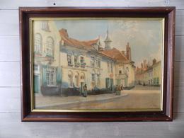 "Aquarelle ""Ypres"" Signée Louis Titz ( 1859-1932 ) Avec Cadre - Aquarelles"
