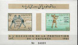 1961 Afghanistan Mi. Bl  10**MNH UNICEF. MiNr. 530-534 Sowie Nicht Ausgegebener Block 9 B Mit Odr.-Aufdruck - Afghanistan