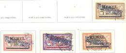 Memel: Yvert N° A4/7°; 4 Valeurs; Oblitération D'époque - Memel (1920-1924)