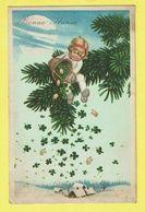 * Bonne Année - Nieuwjaar - New Year (Fantaisie - Fantasie) * (4644-1) Enfant, Child, Ange, Angel, Engel Porc Cochon Pig - Nouvel An