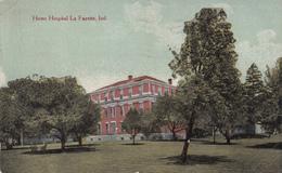 Antique Post Card 1913 - Lafayette Indiana - Home Hospital - Stamp & Postmark 1913 - 2 Scans - Lafayette