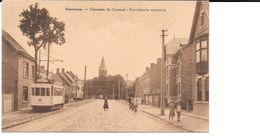 Oostkamp, Kortrijkse Steenweg Met Tram,fietsers En Kerk. - Oostkamp