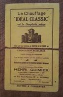 Buvard - Le Chauffage Idéal Classic - Henri Guimier à Auxerre - Autres