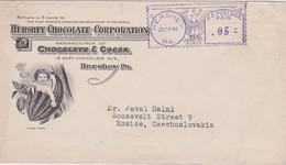 USA 1946 LETTRE DE HERSHEY  EMA  THEMA AIGLE - Poststempel