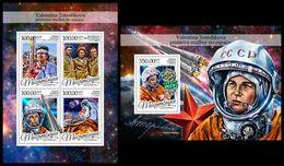 MOZAMBIQUE 2016 - V. Tereshkova - Mi 8714-7 + B1183; CV=42 € - Africa
