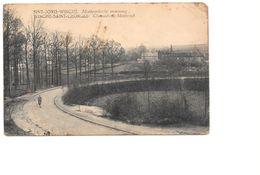 Sint-Joris-Winge, Motbrocksche Steenweg, Met Eenzame Fietser, 1926. - Tielt-Winge
