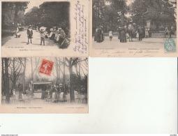 Paris Vecu.Au Jardin D'Acclimatation,Aux Champs Elysées,Enfants Au Jardin-LJ Edit.Lot De 3 CPA. - Parks, Gärten