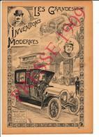Invention Automobile Marquis De Dion (Jules-Albert) Théry (léon) Course Ancienne Métier Chauffeur Omnibus Paris 216CH7 - Non Classificati