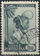 Portuguese Guinea Guiné 1948 Woman In Ceremonial Dress Canc - Costumes