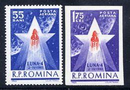 ROMANIA 1963  Launch Of LUNA 4 Moon Misson MNH / **.  Michel 2143-44 - 1948-.... Republics