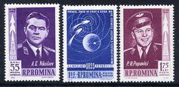 ROMANIA 1962 Vostok 3 And 4 Space Flights MNH / **.  Michel 2096-98 - 1948-.... Republics