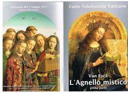 VATICANO (VATICAN) -  2017 VAN EYCK. L' AGNELLO MISTICO (1^ PARTE)   -  4 SCHEDE NUOVE (  222-225) IN FOLDER - Vaticano