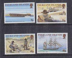 Falkland Islands 1999 Californian Gold Rush 4v ** Mnh (37910) - Falklandeilanden
