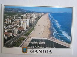 Espagne Gandia Plage Vue Aérienne - Espagne