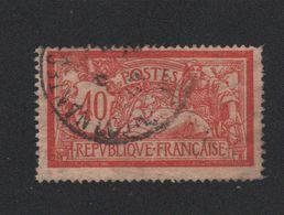 N°119c 40 C MERSON 119 C Sans Teinte De Fond Oblitéré Signé Dent Faible - 1900-27 Merson