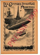 Invention Du Ballon Dirigeable Aviation Santos-Dumont Tour-Eiffel Paris Grande Roue 216CH7 - Alte Papiere