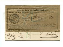Carte Postale Affr. 5c Semeuse Vert Taxée En Suisse 2 X 5c Obl. Neuchatel + Papier Papillon Brun Des Postes Suisses - Poststempel (Briefe)