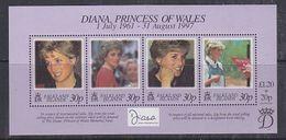 Falkland Islands 1998 Diana Princess Of Wales M/s ** Mnh (37913 ) - Falklandeilanden