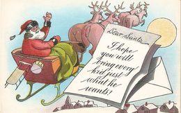 """Santa Claus"" Nice Antique American Christmas Greetings Postcard - Santa Claus"