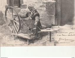 Environs De Muzillac-Fileuse Du Guerno.Coll.David. - Muzillac