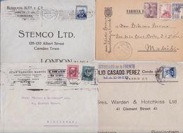 ESPAGNE - ESPAÑA - SPAIN - Lot De 12 Enveloppes Timbrées Et Entiers Postaux - Tarjeta Postal - 1889-1931 Royaume: Alphonse XIII