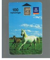 SVEZIA (SWEDEN) - TELIA  (CHIP) -  1991         HORSES      - USED - RIF. 10016 - Sweden