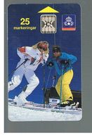 SVEZIA (SWEDEN) - TELIA  (CHIP) -  1991       SKI, COUPLE      - USED - RIF. 10016 - Sweden