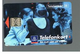 SVEZIA (SWEDEN) - TELIA  (CHIP) -  1992      GIRLS       - USED - RIF. 10018 - Sweden