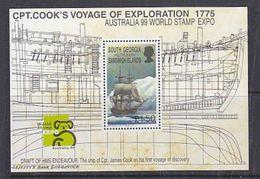 South Georgia 1999 Australia/Capt. Cook's Voyage Of Exploration M/s ** Mnh (37919) - Zuid-Georgia
