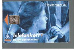 SVEZIA (SWEDEN) - TELIA  (CHIP) -  1992      GIRL    - USED - RIF. 10020 - Sweden
