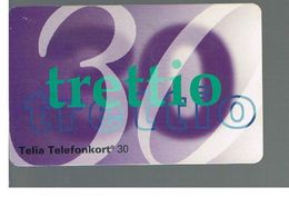 SVEZIA (SWEDEN) - TELIA  (CHIP) -  1993      NUMBER 30    - USED - RIF. 10021 - Sweden