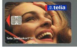 SVEZIA (SWEDEN) - TELIA  (CHIP) -  1993      WOMAN    - USED - RIF. 10023 - Sweden