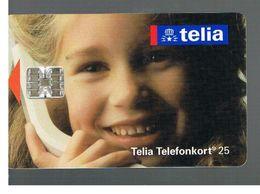 SVEZIA (SWEDEN) - TELIA  (CHIP) -  1993     GIRL   - USED - RIF. 10023 - Sweden
