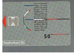 SVEZIA (SWEDEN) - TELIA  (CHIP) -  1993     GRAPHIC  - USED - RIF. 10024 - Svezia