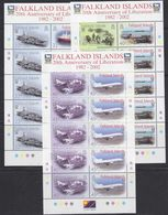 Falkland Islands 2002 20th Anniversary Of Liberation 6v In 3 Sheetlets ** Mnh (37920) - Falklandeilanden