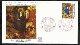 CROIX ROUGE FRANCAISE . LA FUITE EN EGYPTE  . 21 NOVEMBRE 1987 . DIJON . - FDC