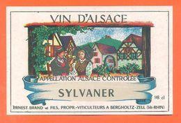 Etiquette Vin D'alsace Sylvaner Ernest Brand Et Fils à Bergholtz Zell - 98 Cl - White Wines