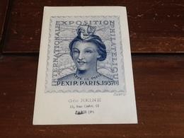 SUPERBE CARTE  PEXIP PARIS 1937 - France