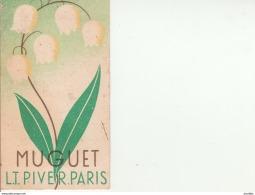 Muguet-LT Piver Paris-Pub Au Dos Richard Louis Coiffeur Le Mans. - Cartes Parfumées