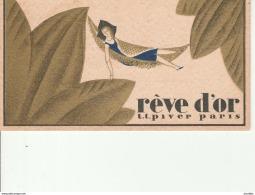 Reve D'Or-LT Piver Paris-Pub Au Dos Coiffure Dourdoigne-Bretoncelles-Orne. - Cartes Parfumées