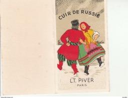 Cuir De Russie-LT Piver Paris-Calendrier 1981. - Cartes Parfumées