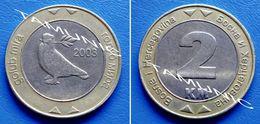 BOSNIA AND HERZEGOVINA 2 KM 2003 BIMETAL - DOVES OF PEACE - Bosnia And Herzegovina
