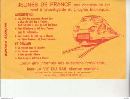 Buvard D'Ecolier-La Vie Du Rail-TGV. - Transport
