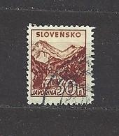 Slovakia Slowakei 1940 Gest ⊙ Mi 75 Sc 49 Mountains Tatra. SLOVENSKO. Wasserzeichen  Watermark. C4 - Slovakia