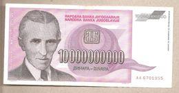 Jugoslavia - Banconota Circolata Da 10.000.000.000 Dinari P-127a - 1993 - Jugoslavia