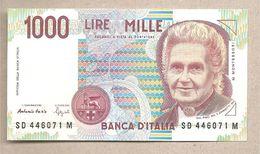 """Italia - Banconota Non Circolata FdS Da 1.000 Lire """"Montessori"""" - 1994 - [ 2] 1946-… : République"""